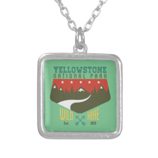Yellowstone National Park Square Pendant Necklace