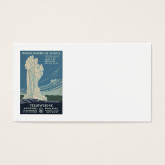 Yellowstone National Park Old Faithful Business Card
