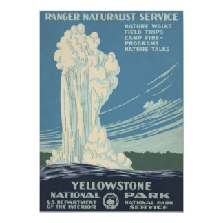 Yellowstone National Park Old Faithful 5x7 Paper Invitation Card