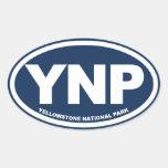 Yellowstone National Park Oval Sticker