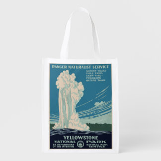 Yellowstone National Park Reusable Grocery Bag