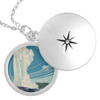 Yellowstone National Park Round Locket Necklace