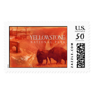 Yellowstone National Park Stamp