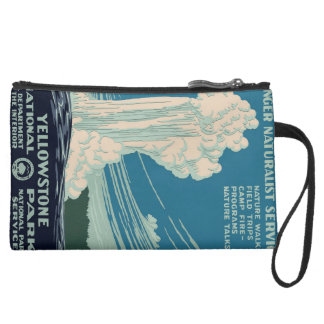 Yellowstone National Park Suede Wristlet Wallet
