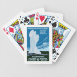 Yellowstone National Park US USA  Vintage Travel Playing Cards