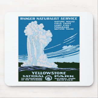 Yellowstone National Park Vintage Mouse Pads