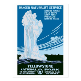 """Yellowstone National Park"" Vintage WPA Postcard"