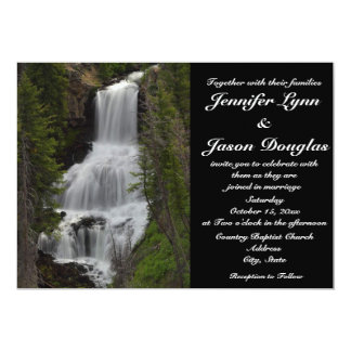 "Yellowstone National Park Waterfall Wedding Invite 5"" X 7"" Invitation Card"