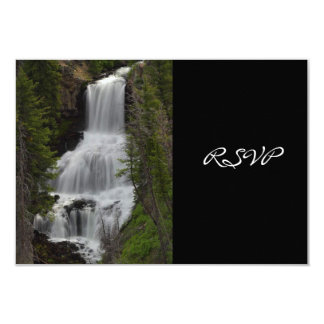 "Yellowstone National Park Waterfall Wedding RSVP 3.5"" X 5"" Invitation Card"
