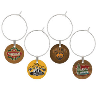 Yellowstone National Park Wine Charms