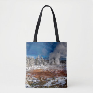 Yellowstone National Park Wyoming in winter Tote Bag