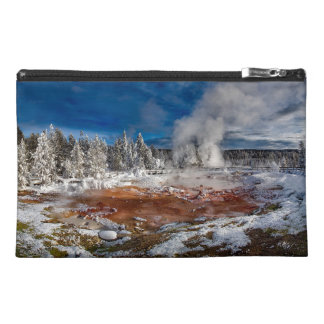 Yellowstone National Park Wyoming in winter Travel Accessory Bag