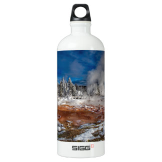 Yellowstone National Park Wyoming in winter Water Bottle