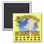 Yellowstone National Park, Wyoming Montana 2 Inch Square Magnet