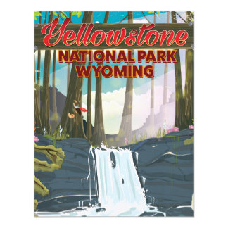 Yellowstone National Park, Wyoming travel poster Card