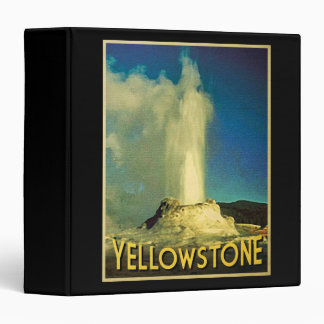 Yellowstone Old Faithful 3 Ring Binder