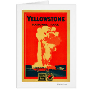 Yellowstone, Old Faithful Advertising Poster Greeting Card