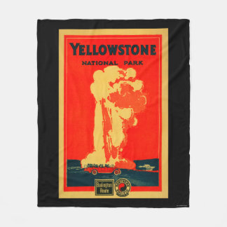 Yellowstone, Old Faithful Advertising Poster Fleece Blanket