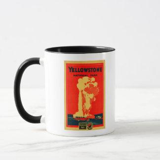 Yellowstone, Old Faithful Advertising Poster Mug