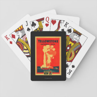 Yellowstone, Old Faithful Advertising Poster Deck Of Cards