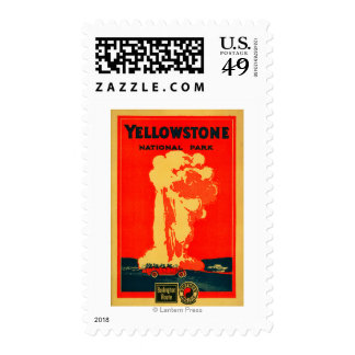 Yellowstone, Old Faithful Advertising Poster Postage Stamps