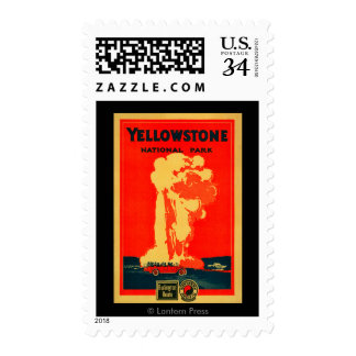 Yellowstone, Old Faithful Advertising Poster Stamp