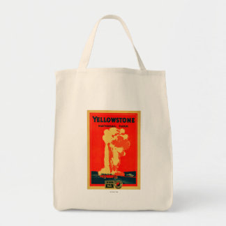 Yellowstone, Old Faithful Advertising Poster Tote Bag