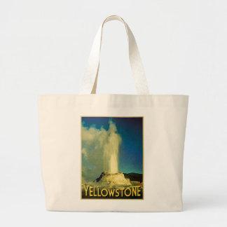 Yellowstone Old Faithful Large Tote Bag