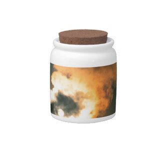 Yellowstone Old Faithful Sunset Wyoming Candy Jars