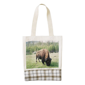Yellowstone Park Bison Zazzle HEART Tote Bag