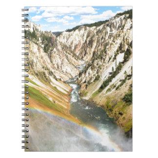 Yellowstone Park Lower Falls Spiral Notebook