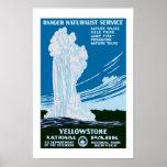 Yellowstone Park Vintage Travel Poster