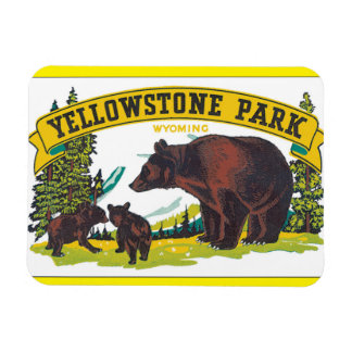 Yellowstone Park_Vintage Travel Poster Artwork Magnet