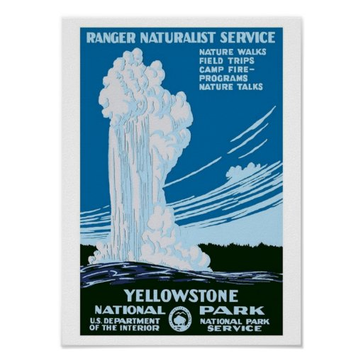 """Yellowstone Park"" Vintage WPA Poster"
