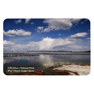YELLOWSTONE PARK, WEST THUMB GEYSER BASIN (3) VINYL MAGNET