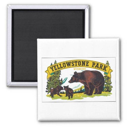 Yellowstone Park, Wyoming Fridge Magnet