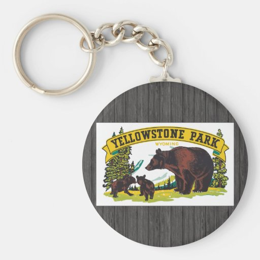 Yellowstone Park Wyoming, Vintage Key Chain