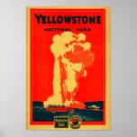 Yellowstone, poster fiel viejo de la publicidad