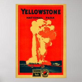 Yellowstone poster fiel viejo de la publicidad