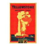 Yellowstone, poster fiel viejo de la publicidad impresión en lona