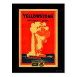 Yellowstone, poster fiel viejo de la publicidad postal