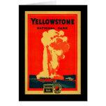 Yellowstone, poster fiel viejo de la publicidad tarjeta de felicitación