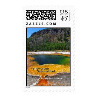 Yellowstone - primaveras prismáticas magníficas estampillas