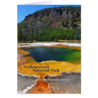 Yellowstone - primaveras prismáticas magníficas tarjeta de felicitación