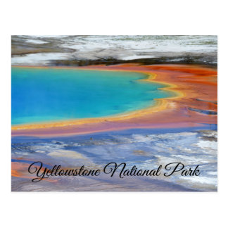 Yellowstone Prismatic Spring Wyoming Post Card