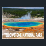 "Yellowstone Prismatic Spring Wyoming, USA Postcard<br><div class=""desc"">Welcome to Yellowstone National Park! This fun travel postcard features a colorful portrait of the gorgeous Prismatic Springs located in Yellowstone National Park. Yellowstone is located in Wyoming and is known for it&#39;s beautiful scenery, working geysers, and abundance of wildlife. United States travel Postcards are an economical alternative to greeting...</div>"