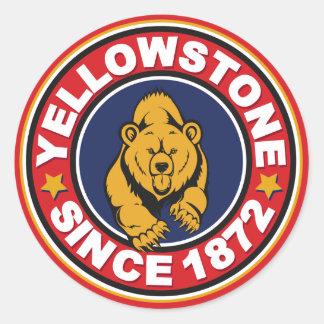 Yellowstone Red Circle Classic Round Sticker