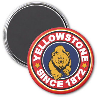 Yellowstone Red Circle 3 Inch Round Magnet