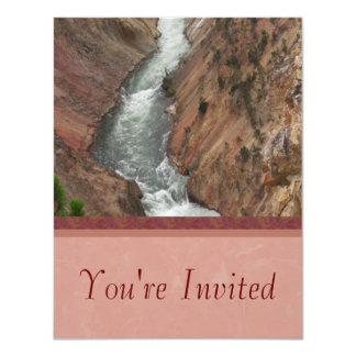 """Yellowstone River Invitation 4.25"""" X 5.5"""" Invitation Card"""