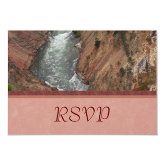 """Yellowstone River RSVP Cards 3.5"""" X 5"""" Invitation Card"""